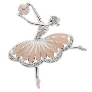 Napier Pink Ballerina Pin NEW